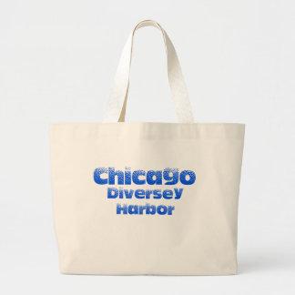Grand Tote Bag Éléphant Fourre-tout de Chicago de port de