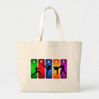 Grand Tote Bag Emblème multicolore de karaté