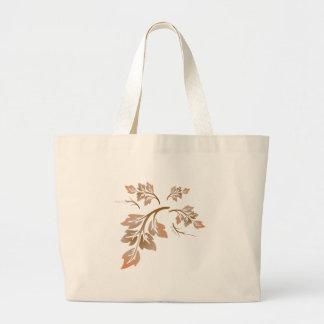 Grand Tote Bag Feuille d'automne de colline de bois dur