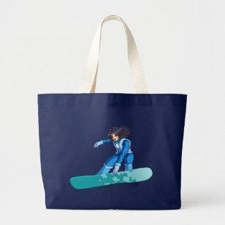 Grand Tote Bag Fille de surfeur de Manga