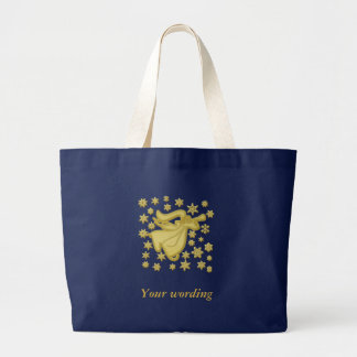 Grand Tote Bag Foi de flocon de neige d'or d'ange