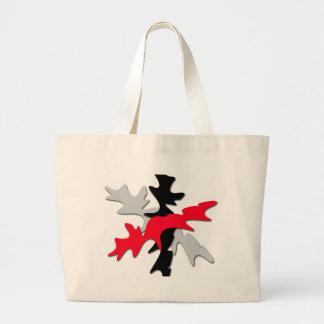 Grand Tote Bag Forme grise, rouge et noire