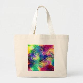 Grand Tote Bag Formes colorées abstraites et textures