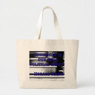 Grand Tote Bag Fourre-tout avec dire d'éducation