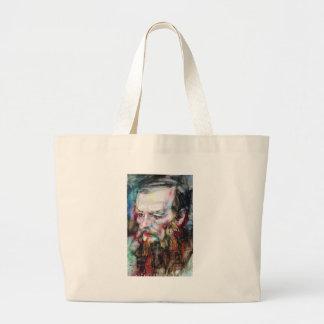 Grand Tote Bag FYODOR DOSTOYEVSKY - aquarelle portrait.2
