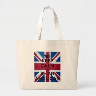Grand Tote Bag Gardez le calme et soyez un anglican