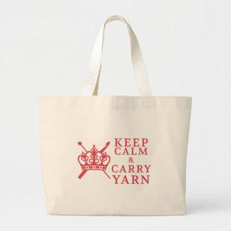 Grand Tote Bag Gardez le calme pour porter des métiers de