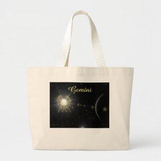 Grand Tote Bag Gémeaux intelligents