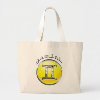 Grand Tote Bag Gémeaux - le signe de zodiaque