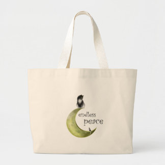 Grand Tote Bag Hessaniata - chat sur la lune