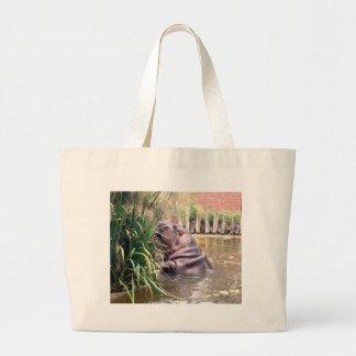 Grand Tote Bag Hippo_Determination, _