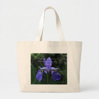 Grand Tote Bag Iris de bleu royal de 31:3 de Jérémie