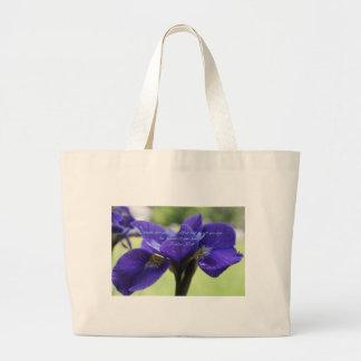 Grand Tote Bag Iris de bleu royal de 37:4 de psaume