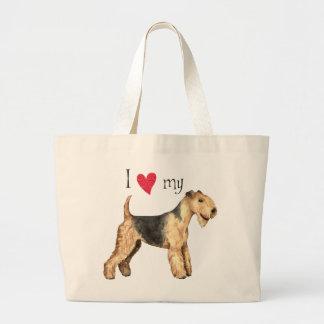 Grand Tote Bag J'aime la ma région des lacs Terrier