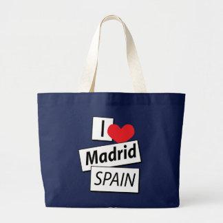 Grand Tote Bag J'aime Madrid Espagne