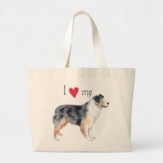 Grand Tote Bag J'aime mon berger australien