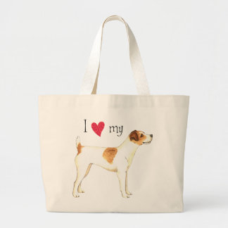 Grand Tote Bag J'aime mon Jack Russell Terrier