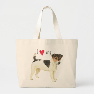 Grand Tote Bag J'aime mon Russell Terrier