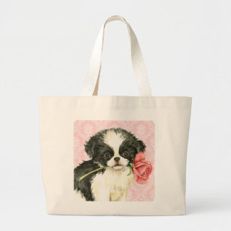 Grand Tote Bag Japonais Chin de rose de Valentine