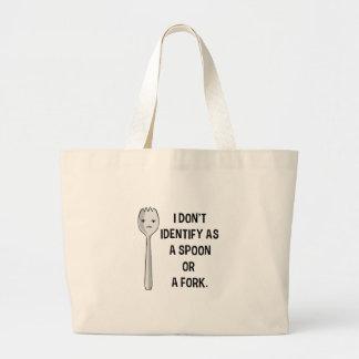 Grand Tote Bag Je n'identifie pas comme cuillère ou fourchette