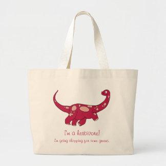 Grand Tote Bag Je suis un herbivore !