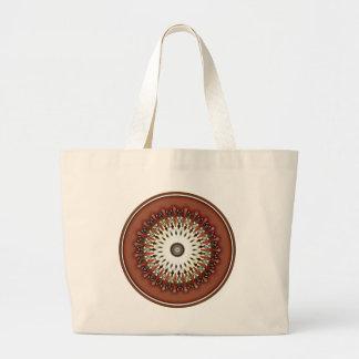 Grand Tote Bag Kaléidoscope de cuivre en bronze riche renversant