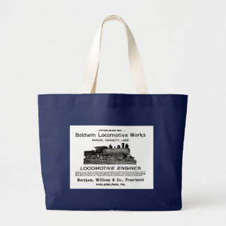 Grand Tote Bag La locomotive de Baldwin fonctionne 1895