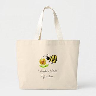 Grand Tote Bag La meilleure abeille de miel de grand-maman des