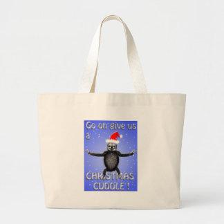 Grand Tote Bag la paresse veut une caresse de Noël