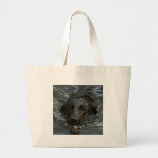 Grand Tote Bag Labrador retriever noir personnalisable
