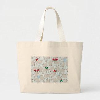 Grand Tote Bag lamantin de Noël