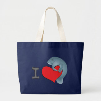 Grand Tote Bag Lamantins du coeur I
