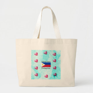 Grand Tote Bag Langue philippine de Wikang et drapeau de
