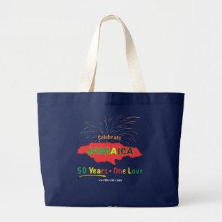 Grand Tote Bag L'anniversaire de la Jamaïque cinquantième par