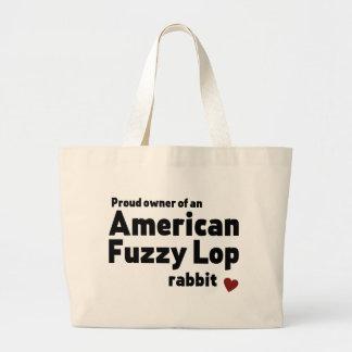 Grand Tote Bag Lapin brouillé américain de Lop