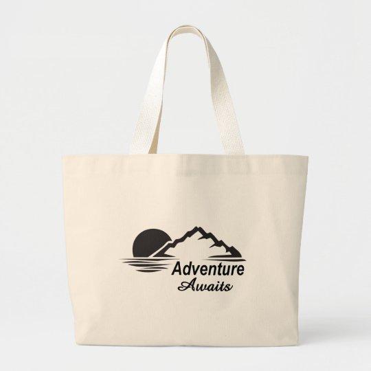 Grand Tote Bag L'aventure attend la nature grande dehors
