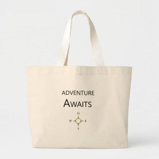 Grand Tote Bag L'aventure attend le peu un