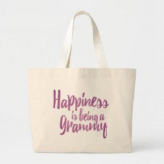 Grand Tote Bag Le bonheur est un Grammy