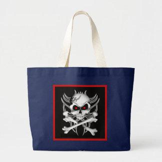 Grand Tote Bag Le crâne et les os croisés de la mort