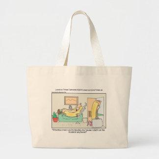 Grand Tote Bag Le hot-dog divorce les tasses et les cadeaux