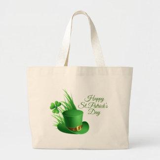 Grand Tote Bag Le jour de St Patrick heureux, saint irlandais de