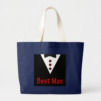 Grand Tote Bag Le meilleur homme dans Tux