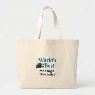 Grand Tote Bag Le meilleur thérapeute du massage du monde