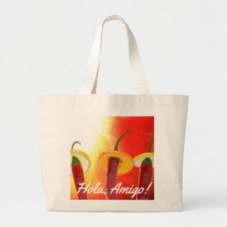 Grand Tote Bag Le rouge, le chaud, le piment
