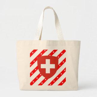 Grand Tote Bag Le Suisse barre le drapeau