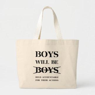 Grand Tote Bag Les garçons seront des garçons (la malédiction