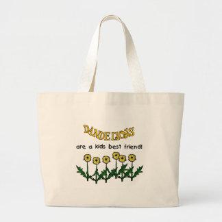 Grand Tote Bag Les pissenlits sont les T-shirts et le cadeau d'un