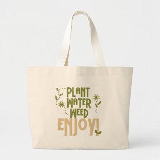 Grand Tote Bag L'mauvaise herbe de l'eau de plante apprécient