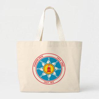 Grand Tote Bag Logo debout de tribu de roche