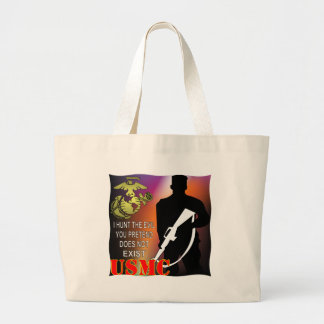 Grand Tote Bag L'usmc I chassent le mal que vous Pretend n'existe